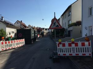 Baustellensicherung in Wernau